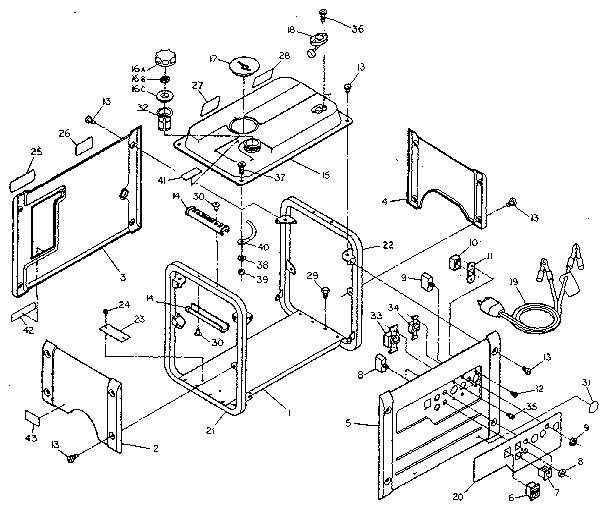Craftsman Model 580328340 Generator Genuine Parts