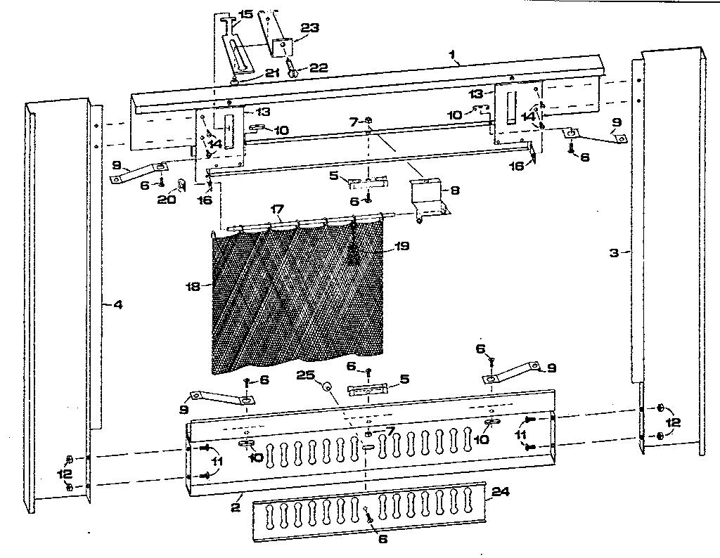 kenmore model 114971200 screen fireplace genuine parts rh searspartsdirect com Chimney Diagram Fireplace Blower Fan Diagram