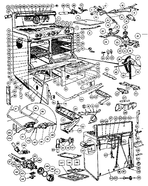 Kenmore 103281610 body section diagram