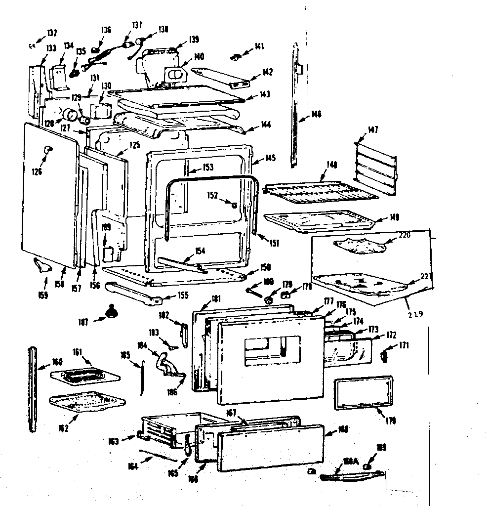 Kenmore 1037466682 body section diagram