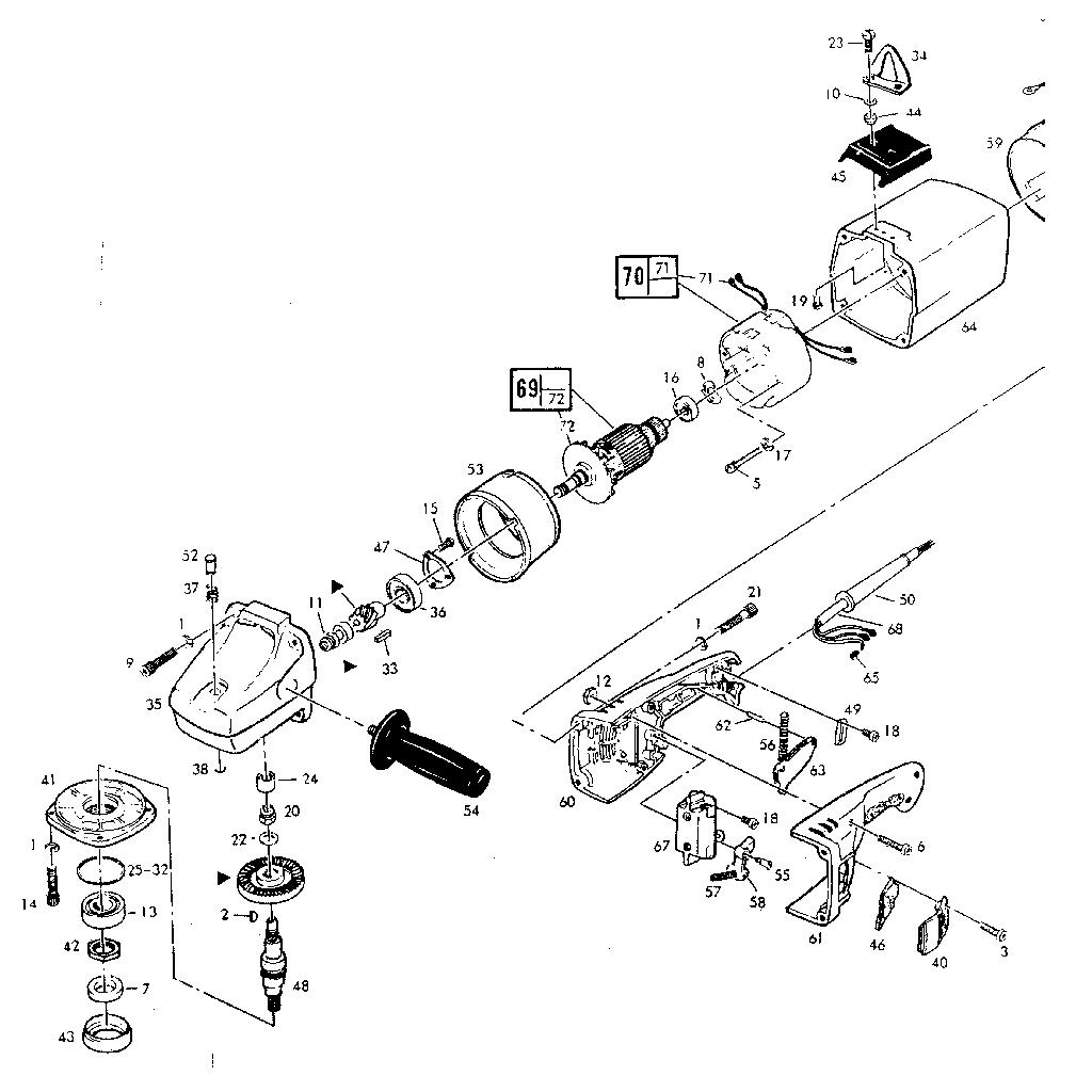 Skil  Model 985 Disc Sander And Model 987 Disc Grinder Type 1  Armature assembly