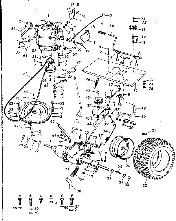 craftsman riding lawn tractor parts