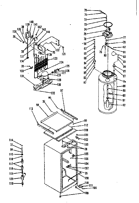 Kenmore 5648848020 refrigeration, cabinet and carbonated water tank diagram
