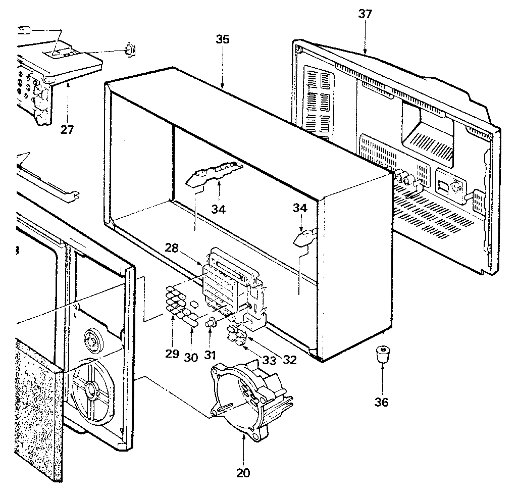 LXI 56442500150 cabinet diagram