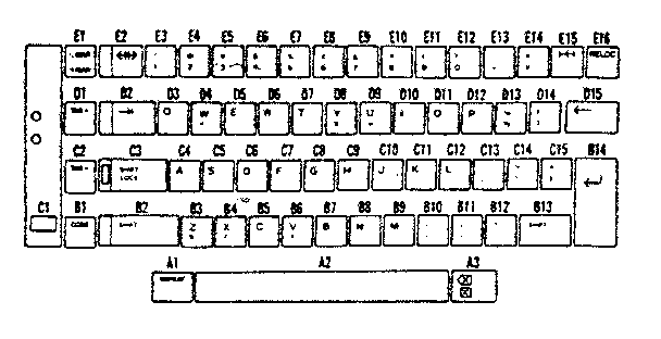 Sears 26853370 key top (french) diagram