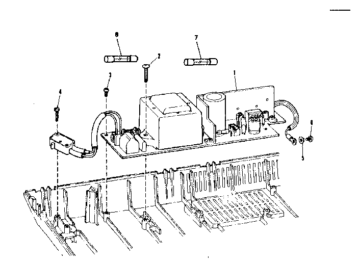 Sears 26853370 power supply circuit board diagram
