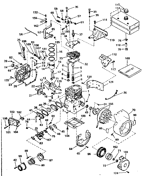 tecumseh model h50 65417l engine genuine parts rh searspartsdirect com tecumseh engine diagram carburetor tecumseh h35 engine diagram