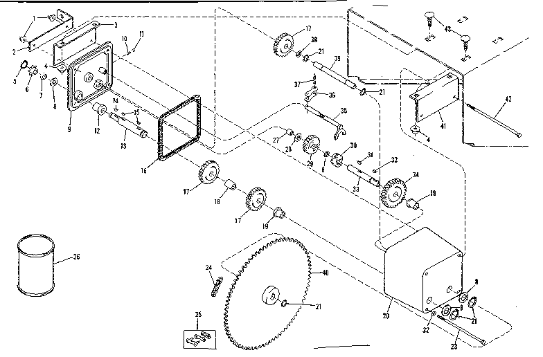 Craftsman 13181890 gear case assembly diagram