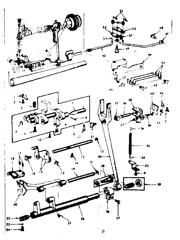Kenmore  Kenmore Sewing Machine  Feed regulator assembly