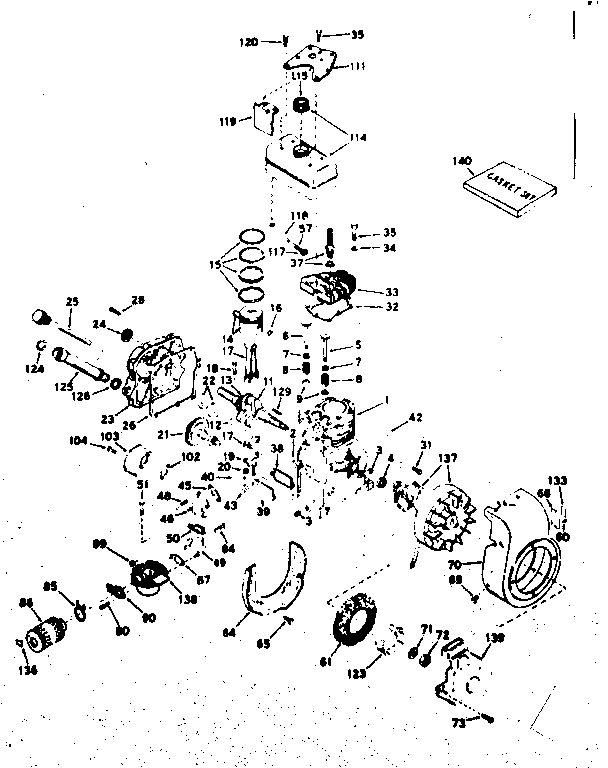 Craftsman 143604052 basic engine diagram