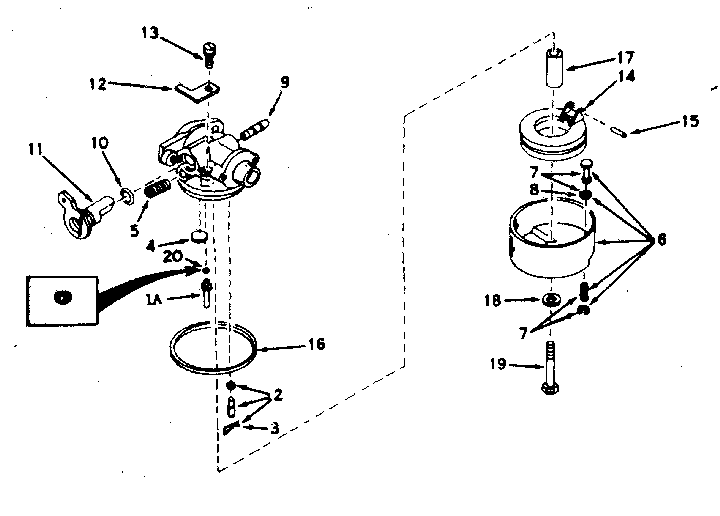 Craftsman 143604052 carburetor diagram
