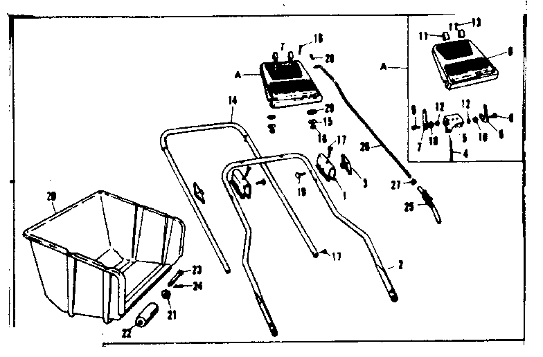 Craftsman 53681600 throttle control assembly diagram