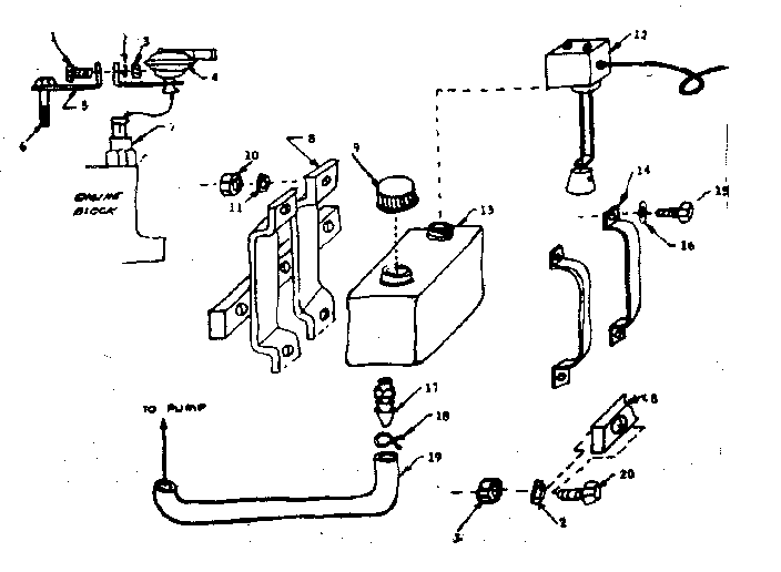 Craftsman 580320820 tank and bracket assembly diagram