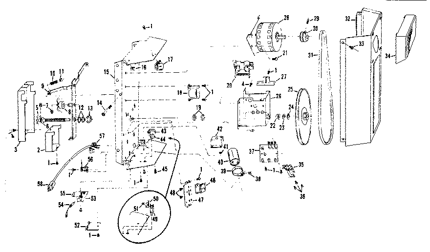 Craftsman 139653000 chassis assembly diagram