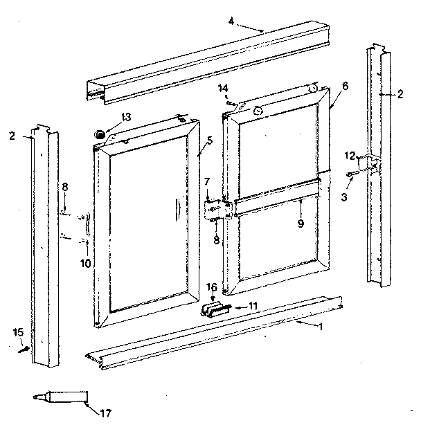 Sears 392680831 replacement parts diagram