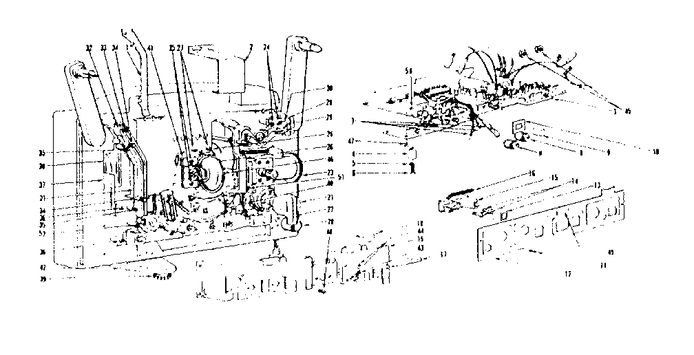 LXI 83792580 control panel, circuit board and optical system diagram