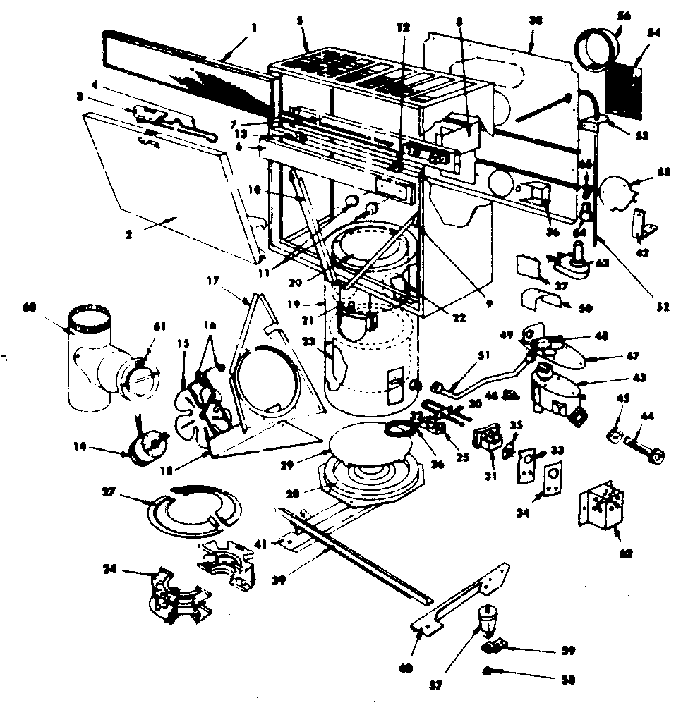 Kenmore 15570842 replacement parts diagram