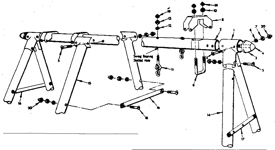 Sears 70172907-80 a-frame assembly diagram
