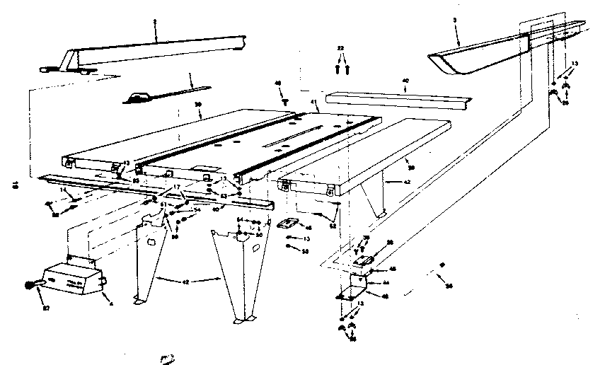 Craftsman 25965 frame diagram
