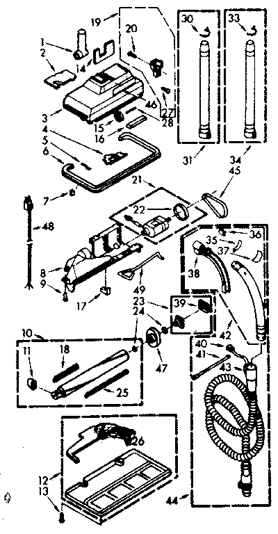 Kenmore 11621150 powermate parts diagram