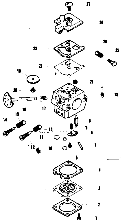 Craftsman 358352630 carburetor no. 35158 diagram