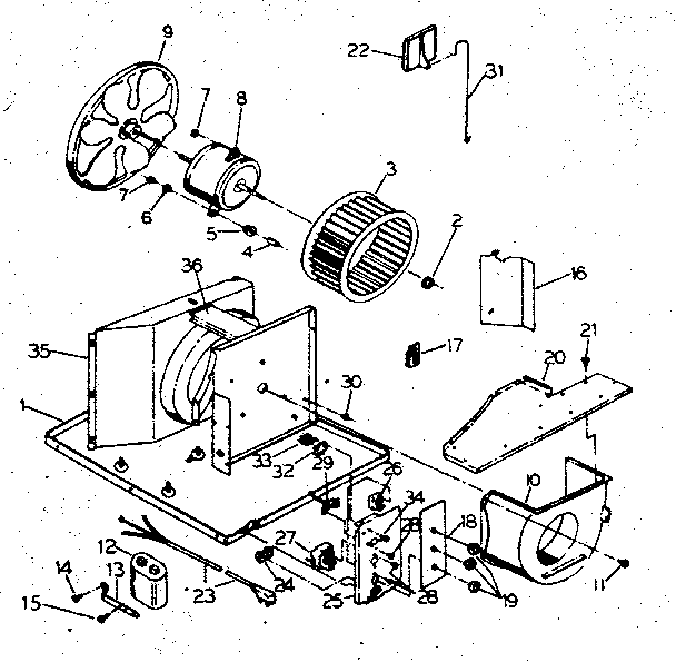 Kenmore 2538750890 electrical system and air handling diagram