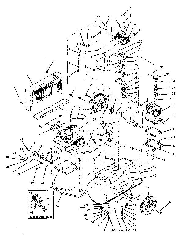 Craftsman  Gasoline Engine Air Compressor  Unit parts