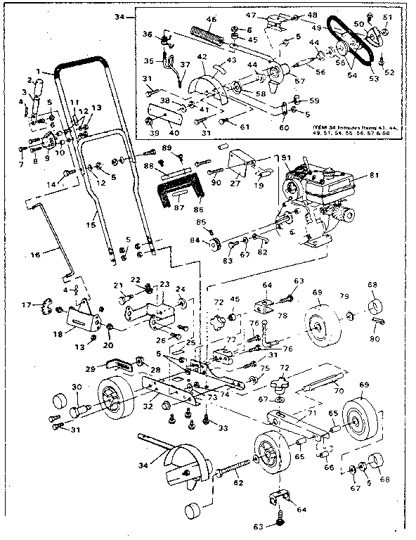 Craftsman  Craftsman 9 In Edger Trimmer  Replacement parts