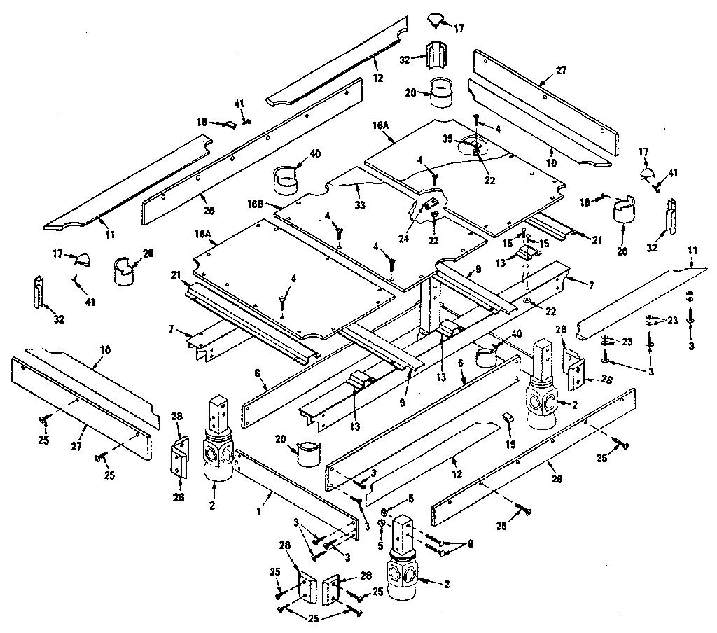 Sears Model 52725117 Pool Table Genuine Parts