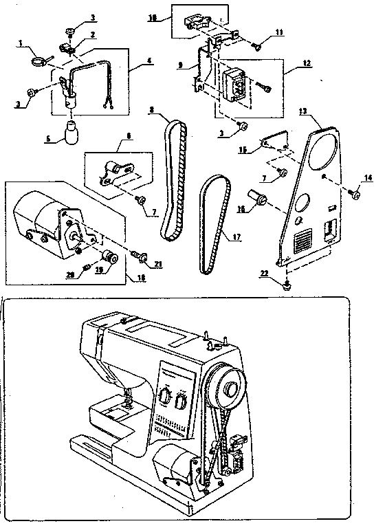 Kenmore  Kenmore Sewing Machine  Motor assembly