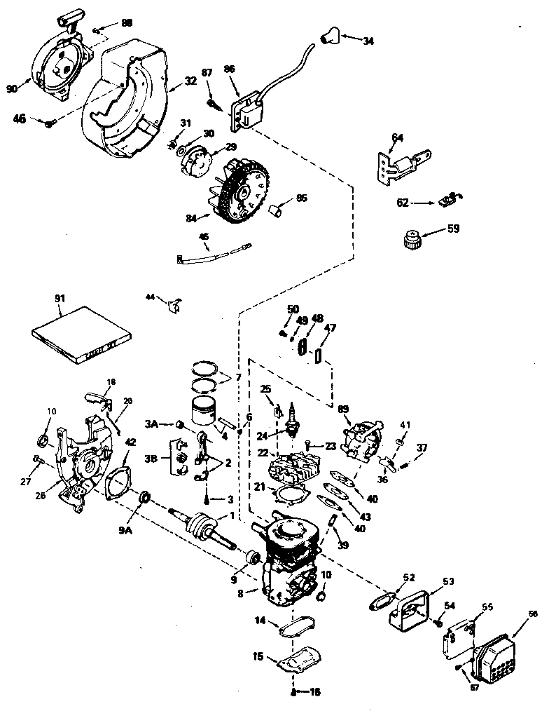 tecumseh model ah600 1627n engine genuine parts rh searspartsdirect com tecumseh engine carburetor linkage diagram tecumseh h35 engine diagram
