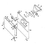 GE DDE5300GBL cabinet front diagram