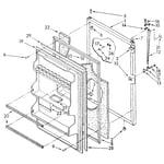 Kenmore 1068374432 refrigerator door diagram
