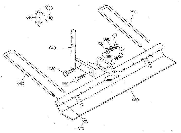 Kubota  Tiller At25  Attachment (rake)
