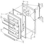 Whirlpool ET20AKXSF03 refrigerator door diagram