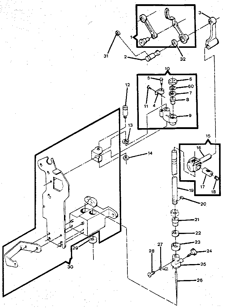 Kenmore  Sewing Machine  Needle bar, presser bar & take-up