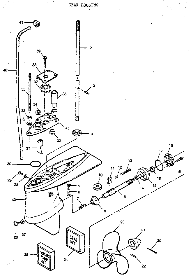 Craftsman 225587503 gear housing assembly diagram