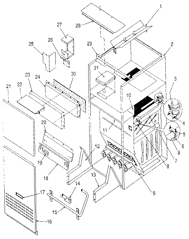 Icp Model Ndlk050df05 Furnaceheater Gas Genuine Parts