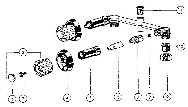 Peerless Model 9741 Faucet Genuine Parts