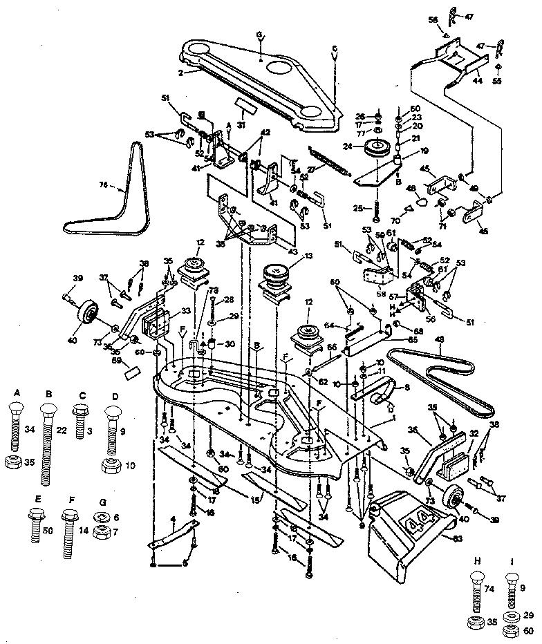 Craftsman Model 917255930 Lawn Tractor Genuine Parts