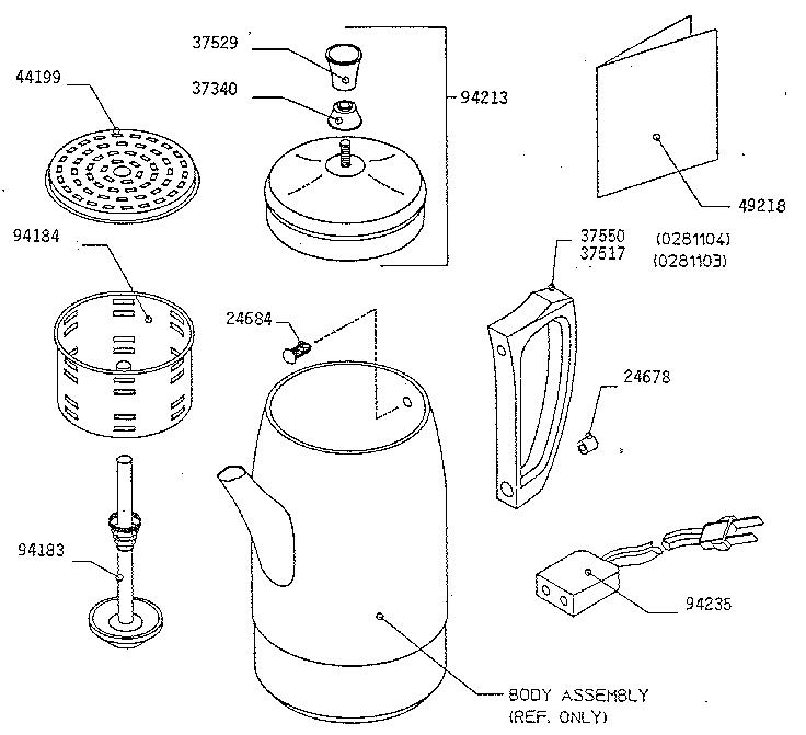 Coffee Maker Parts List : PRESTO COFFEEMAKER Parts Model 0281103 Sears PartsDirect