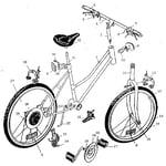 "Sears 45556 tomcat, 24"" girl's atb diagram"
