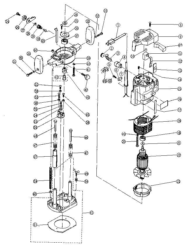 Ryobi Model R 150 Router Genuine Parts