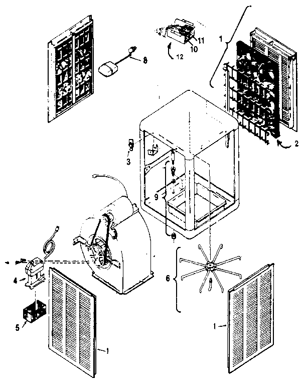 Adobe Aire  Evaporative Cooler  Down discharge evaporative cooler