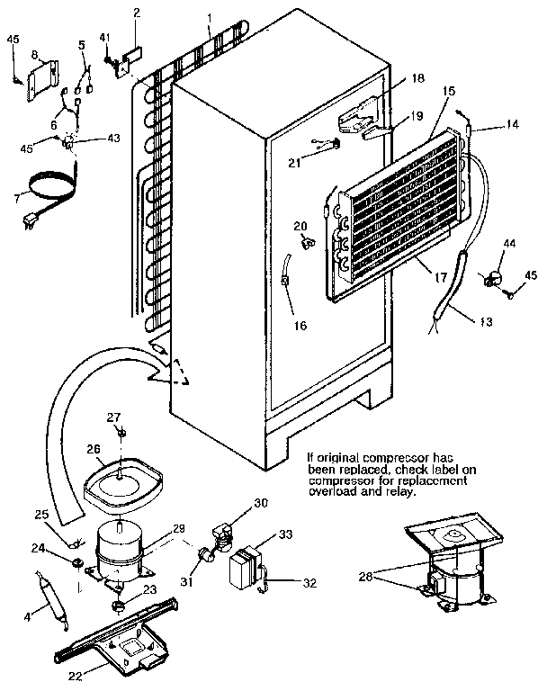 Kenmore 2539308784 unit diagram