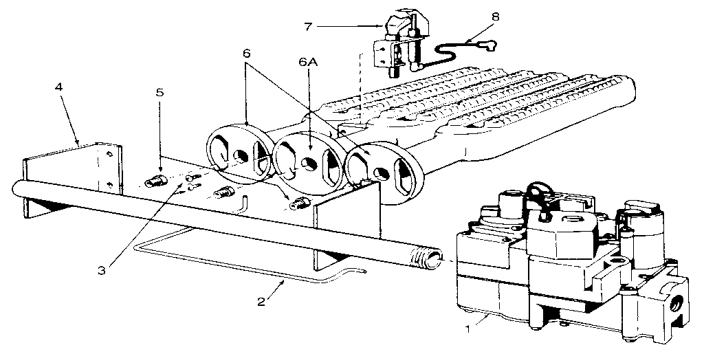 Kenmore  Hot Water Boiler  Gas burners and manifold