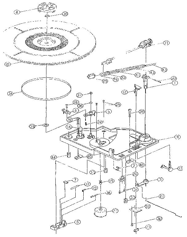 record player diagram