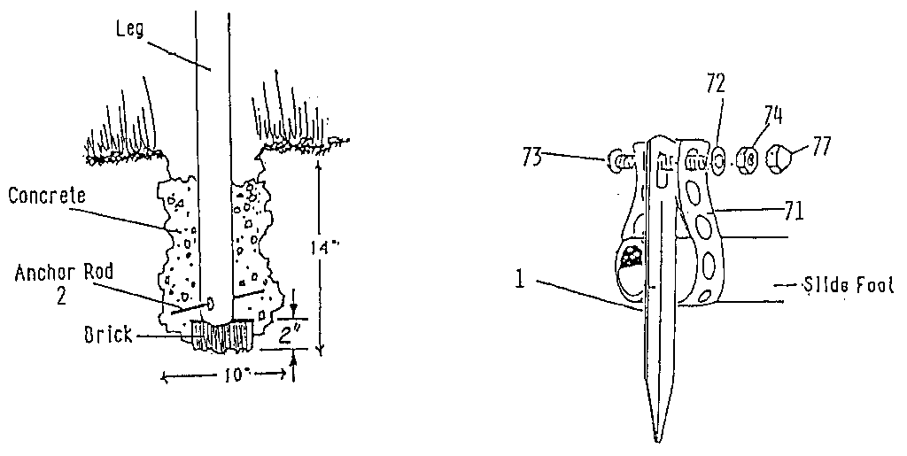 Sears 78672707 anchor assembly diagram
