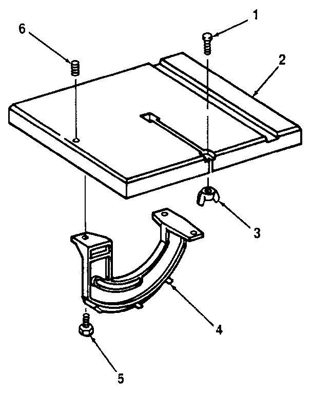 Craftsman 113244530 table and trunnion diagram