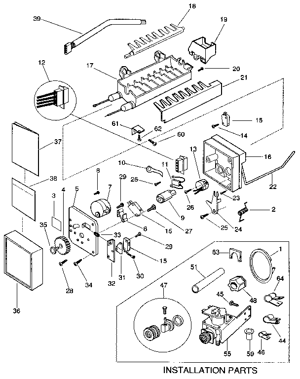 Frigidaire FRS24XHAB0 icemaker diagram